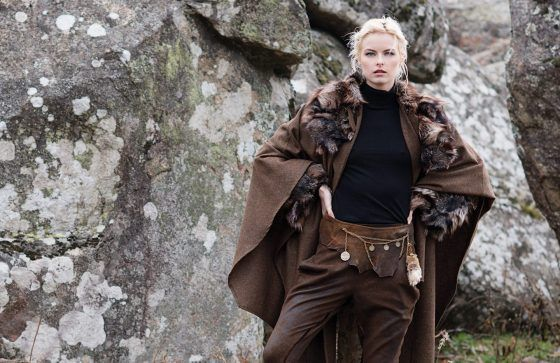 Woman in fur with T.ba style